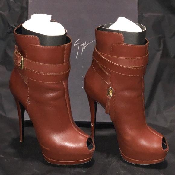 4eddebbf9e914 Giuseppe Zanotti Shoes | Belted Platform Ankle Bootie | Poshmark
